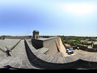 平遥古城太和门上眺望古县城全景