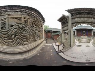 静升文庙棂星门全景