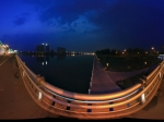 山西 太原 漪汾桥夜景全景