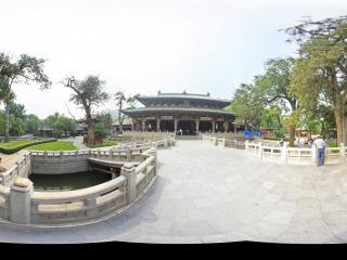 山西太原晋祠博物馆圣母殿全景
