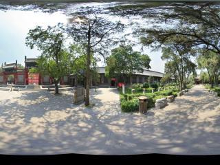山西民俗博物馆园景全景