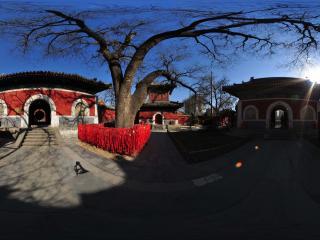 北京 万寿寺 天王殿全景