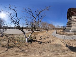 八里庄塔的晴朗冬日全景