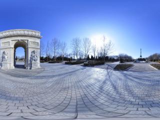 北京丰台世界公园-巴黎凯旋门全景