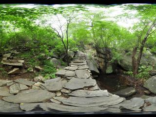 林中仙境密云捧河湾 山间小道
