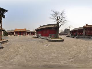 北京宣南文化博物馆大院雕像