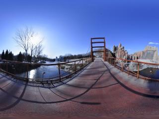 世界全景一次看 北京世界公园金门大桥
