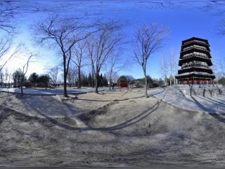 世界全景一次看 北京世界公园 应县木塔