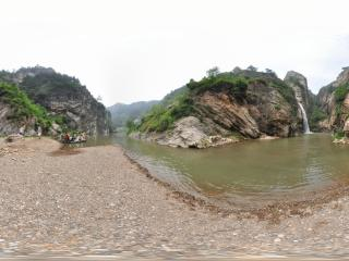 葫芦岛龙潭大峡谷龙潭大瀑布全景