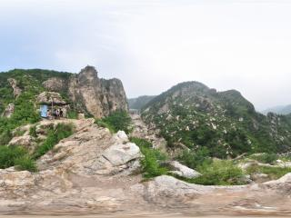 葫芦岛龙潭大峡谷山顶全景