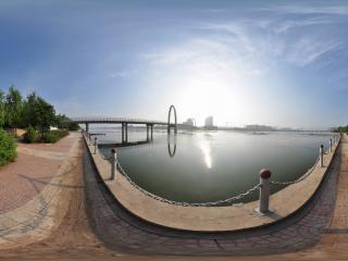 葫芦岛水上公园之河边远眺
