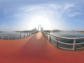 葫芦岛水上公园之跨河大桥