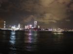 香港维多利亚港湾美丽夜景全景