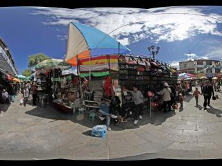拉萨大昭寺广场小商品市场