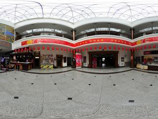 庄严的黑龙江省博物馆大厅全景