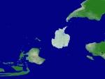 世界地图之2012的地球磁极转换海陆变迁之后全景