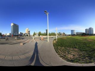 清晨的银河广场景1全景