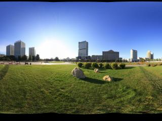 清晨的银河广场景3全景