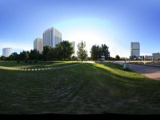 清晨的银河广场景2全景