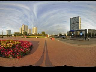 傍晚的银河广场景1全景