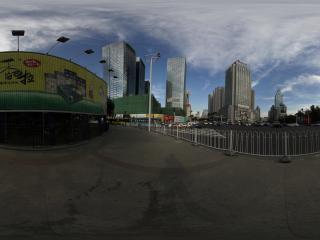 新疆乌鲁木齐天山拍摄时代广场附近的招牌全景
