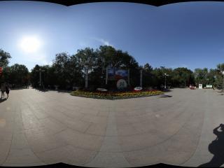 新疆乌鲁木齐天山拍摄从眺望台广场拍摄乌鲁木齐