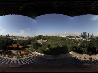 新疆乌鲁木齐天山拍摄眺望台乌鲁木齐全景