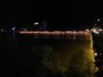 兰州黄河大桥的夜景全景