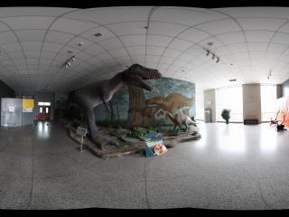 甘肃省博物馆绘塑结合的恐龙展厅