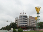 嘉峪关火车站广场的雕塑驿站
