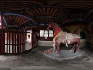 嘉峪关关城内的红马塑像