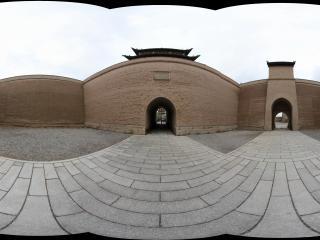 嘉峪关关城的城墙内