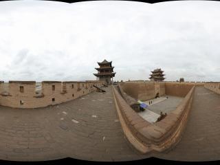 嘉峪关长城城墙的拐角处