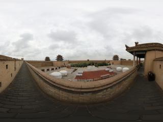 嘉峪关长城城墙的瞭望口