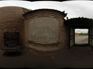 嘉峪关长城上城墙的门口