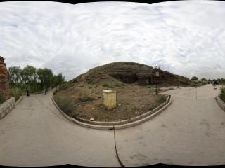 嘉峪关长城关城外的格桑花路