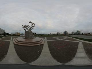 嘉峪关雄关广场的雕塑