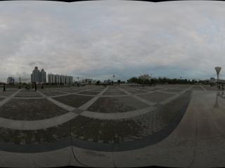 嘉峪关雄关广场的音乐喷泉