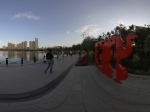 南湖广场的雕塑《大鹅欢》全景