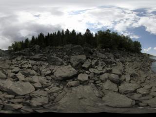 天池的原始岩石