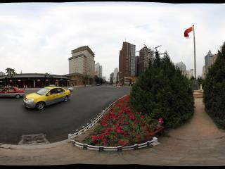 甘肃省人民政府楼前全景