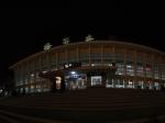 夜色中的格尔木火车站全景