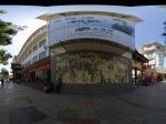 兰州敦煌的艺术街道全景