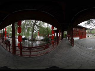 华清宫九曲回廊看长生殿
