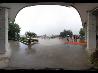 兵马俑一号坑看入口广场全景