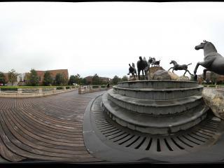 兵马俑马咖啡群马飞奔雕塑之二