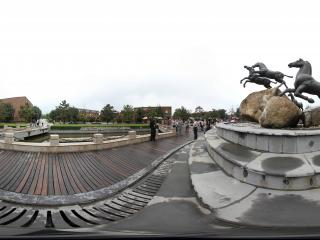 兵马俑马咖啡群马飞奔雕塑之三