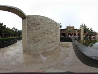 兵马俑街道广场的浮雕景观之二