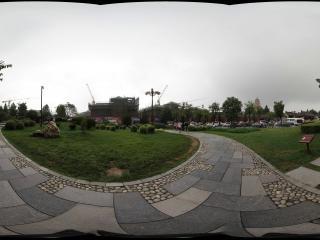 大雁塔南广场西南侧花草坪