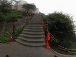 上华山北峰的路上全景